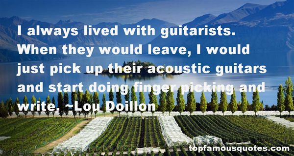Quotes About Acoustic Guitars