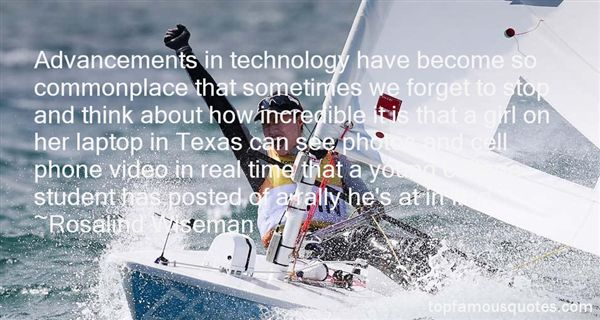 Quotes About Advancements In Technology