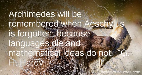Quotes About Archimedes Math