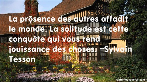 Quotes About Choses