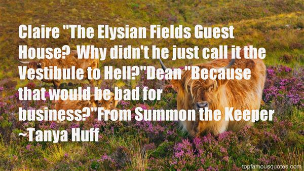 Quotes About Elysian Fields