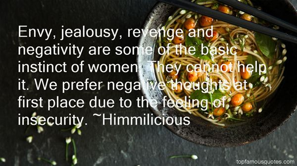 Jealousy And Insecurity Quotes: Best 3 Famous Quotes About