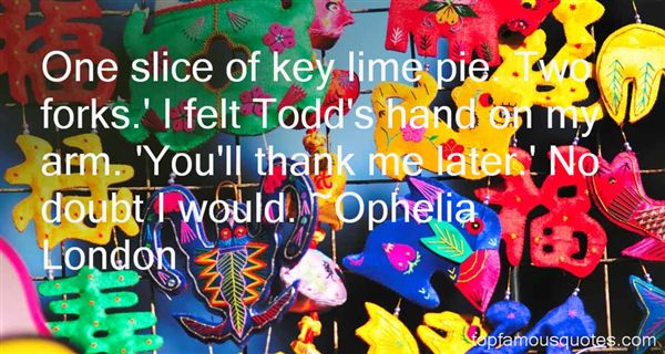 Quotes About Key Lime Pie