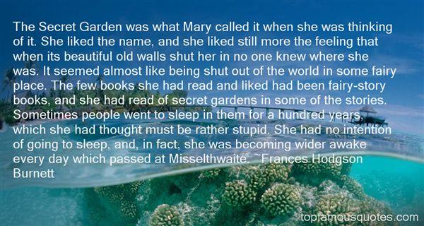 Quotes About Secret Gardens