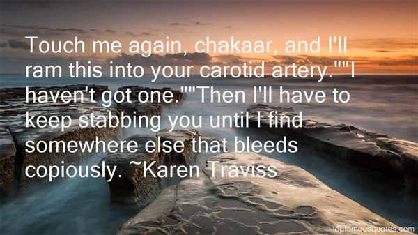 Quotes About Stabbing