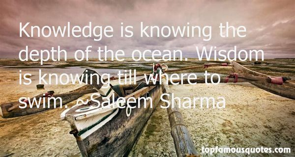 Quotes About The Depth Of The Ocean