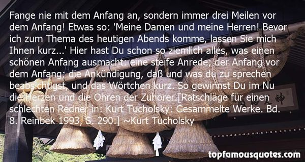 Quotes About Anfang
