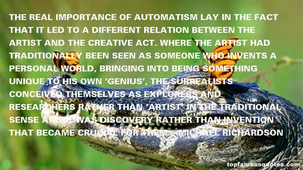 Quotes About Automatism