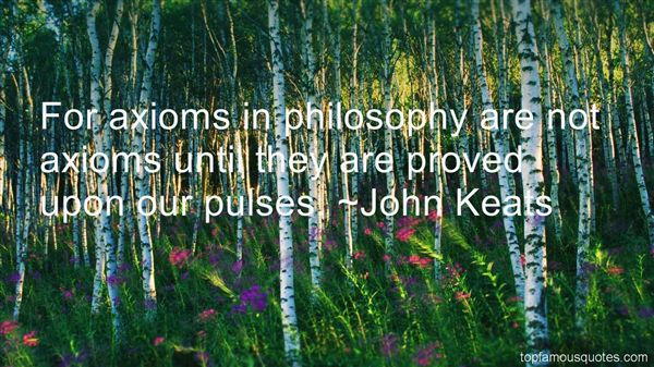 Quotes About Axioms