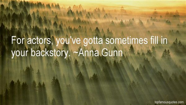 Quotes About Backstory