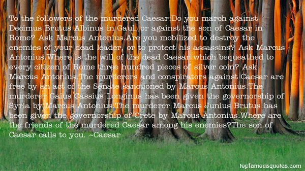 Quotes About Cassius Caesar