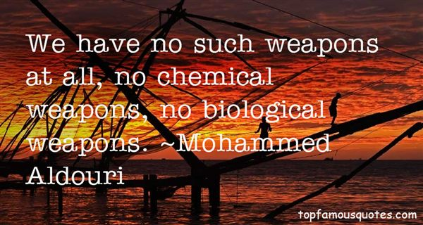 Quotes About Chemical Weapons