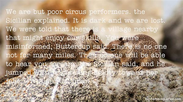 Quotes About Circus Performers