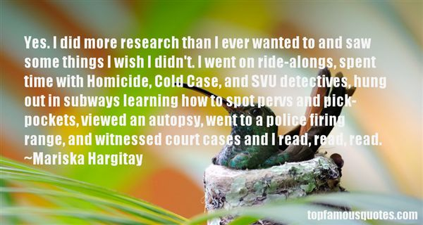 Quotes About Cold Cases