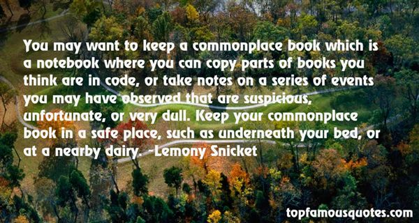 Quotes About Commonplace Books