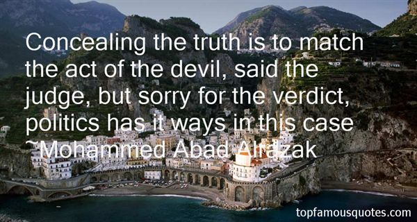 Quotes About Concealing The Truth