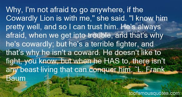 Quotes About Cowardly Lion