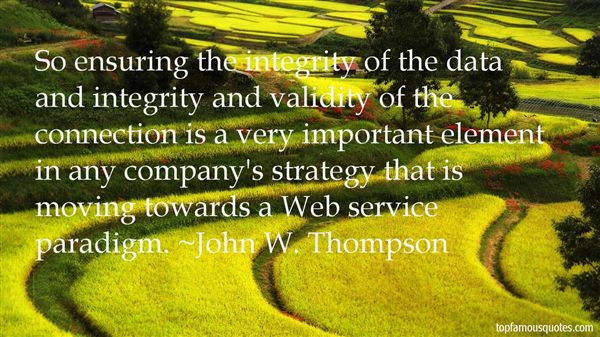 Quotes About Data Integrity