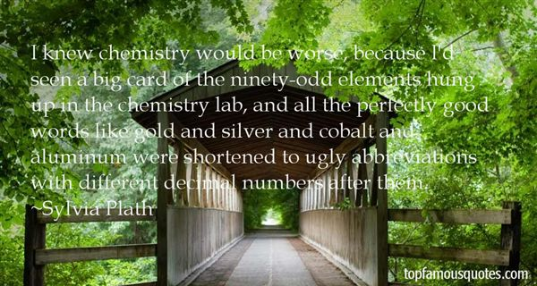 Quotes About Elements Chemistry