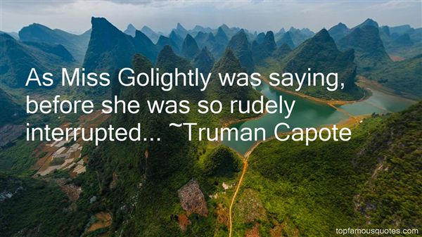 Quotes About Golightly