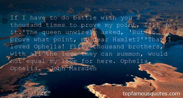 Quotes About Hamlet And Ophelia