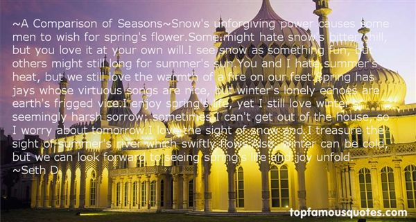 Quotes About Harsh Winter