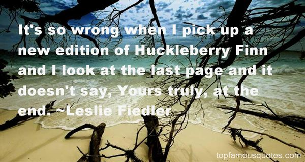 Quotes About Huckleberry Finn