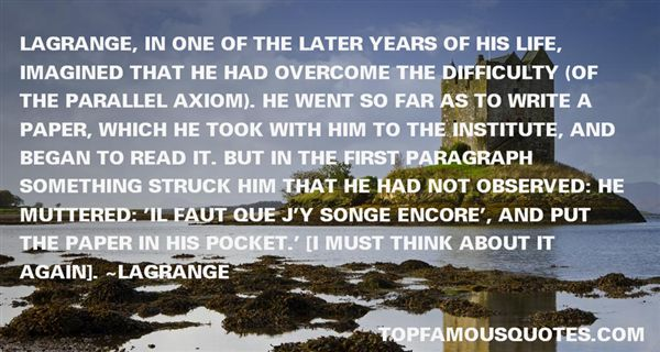 Quotes About Lagrange