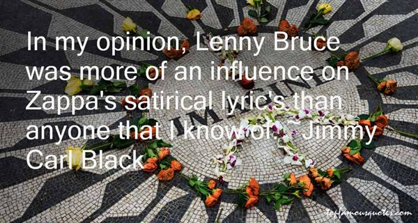 Quotes About Lenny Bruce