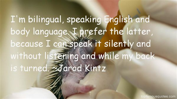 Quotes About Lingua
