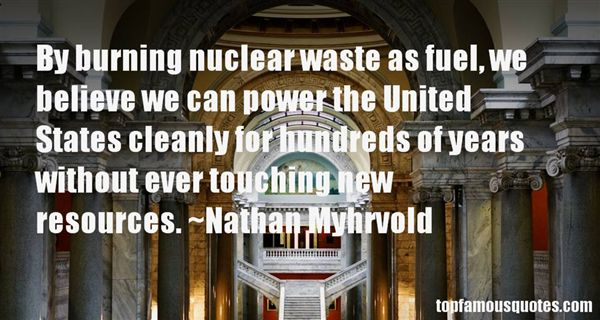 Quotes About Nuclear Waste