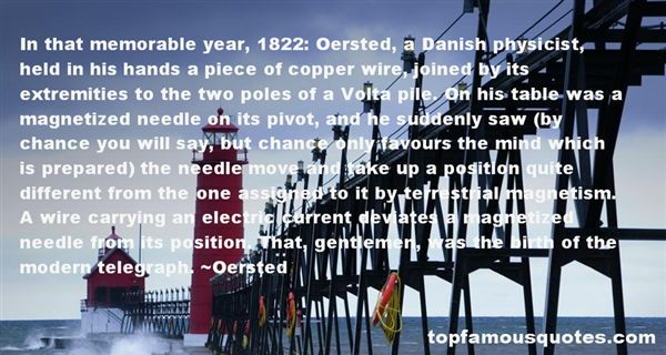 Quotes About Oersted