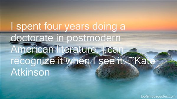 Quotes About Postmodern Literature