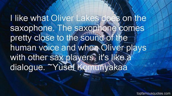 Quotes About Saxophone Players