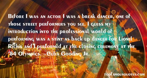 Quotes About Street Performers