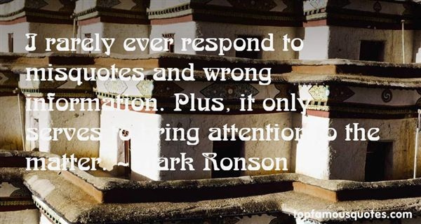 Quotes About Wrong Information