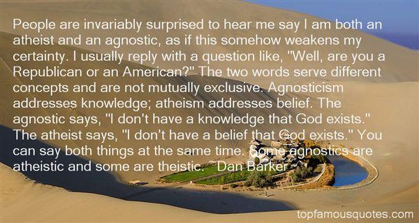 Quotes About Agnostic