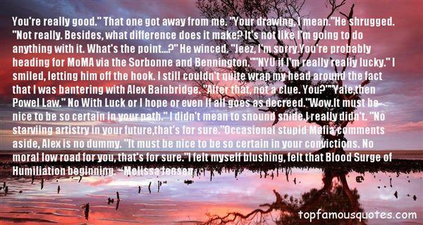 Quotes About Bennington