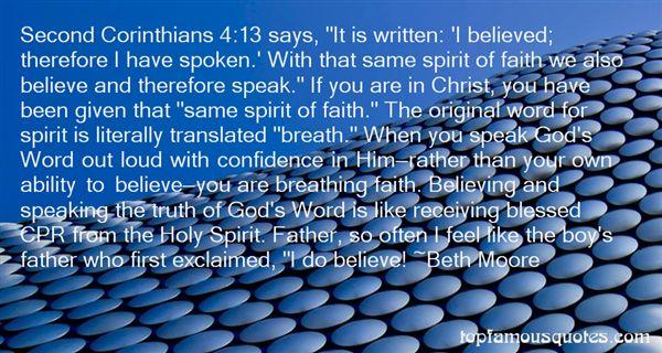 Quotes About Corinthians Faith