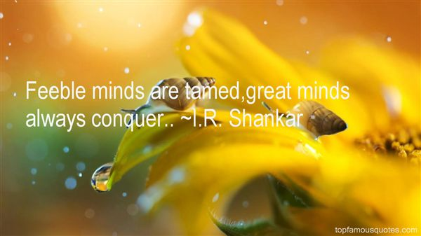 Quotes About Feeble Minds