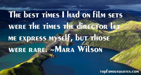 Quotes About Film Sets