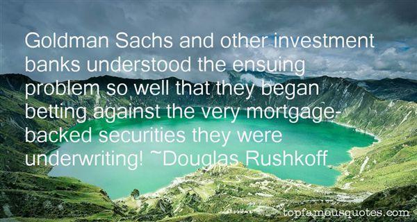Quotes About Goldman Sachs