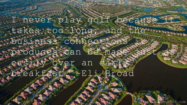 Quotes About Golf And Business