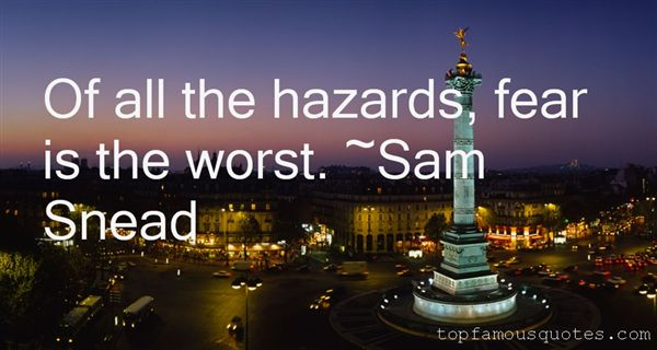 Quotes About Hazards