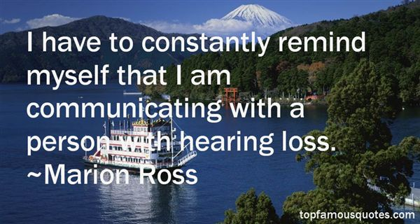 Quotes About Hearing Loss