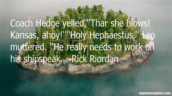 Quotes About Hephaestus