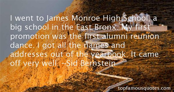 Quotes About High School Alumni
