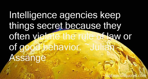 Quotes About Intelligence Agencies