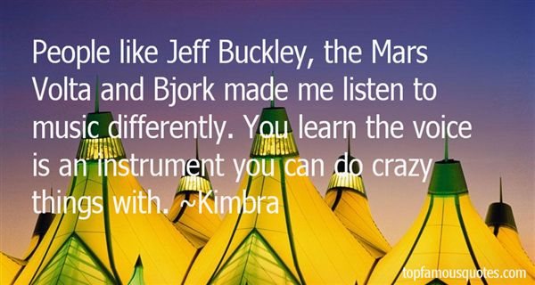 Quotes About Jeff Buckley