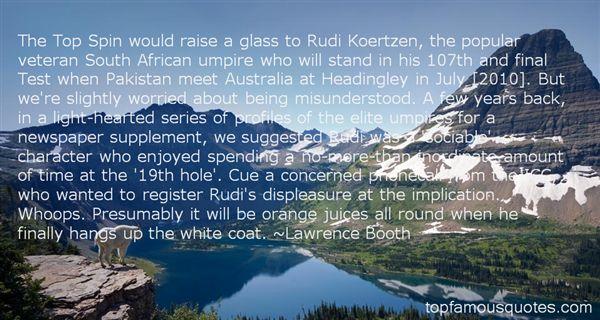 Quotes About Koertzen